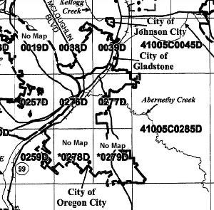 FEMA Maps | City of Oregon City Dfirm Map on