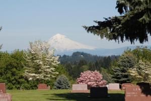 Scenic View of Mount Hood from Mt. View Cemetery