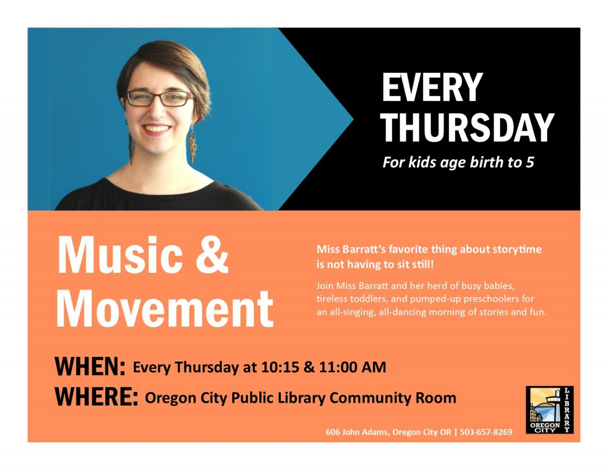 Music and Movement @ Oregon City Public Library | Oregon City | Oregon | United States