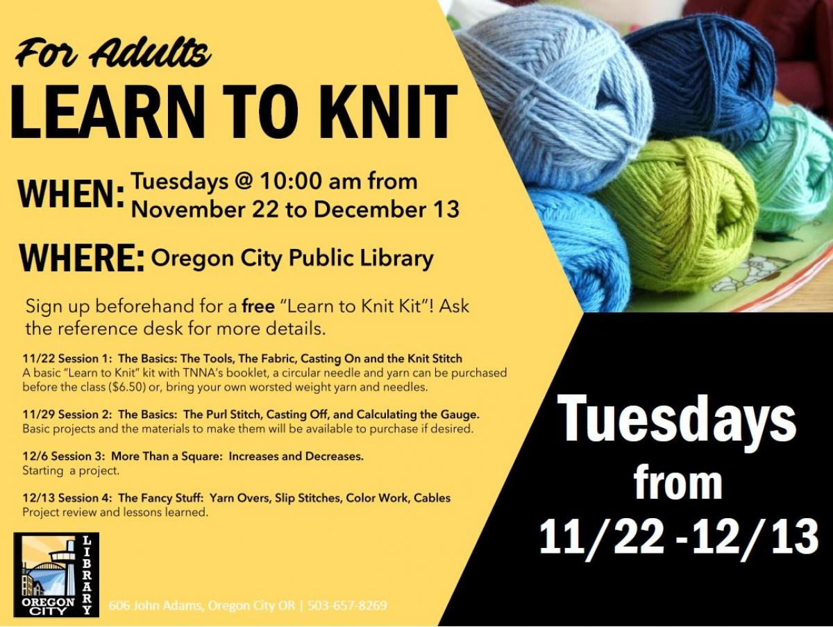Learn To Knit City Of Oregon City,How To Make Stuffed Peppers In The Oven