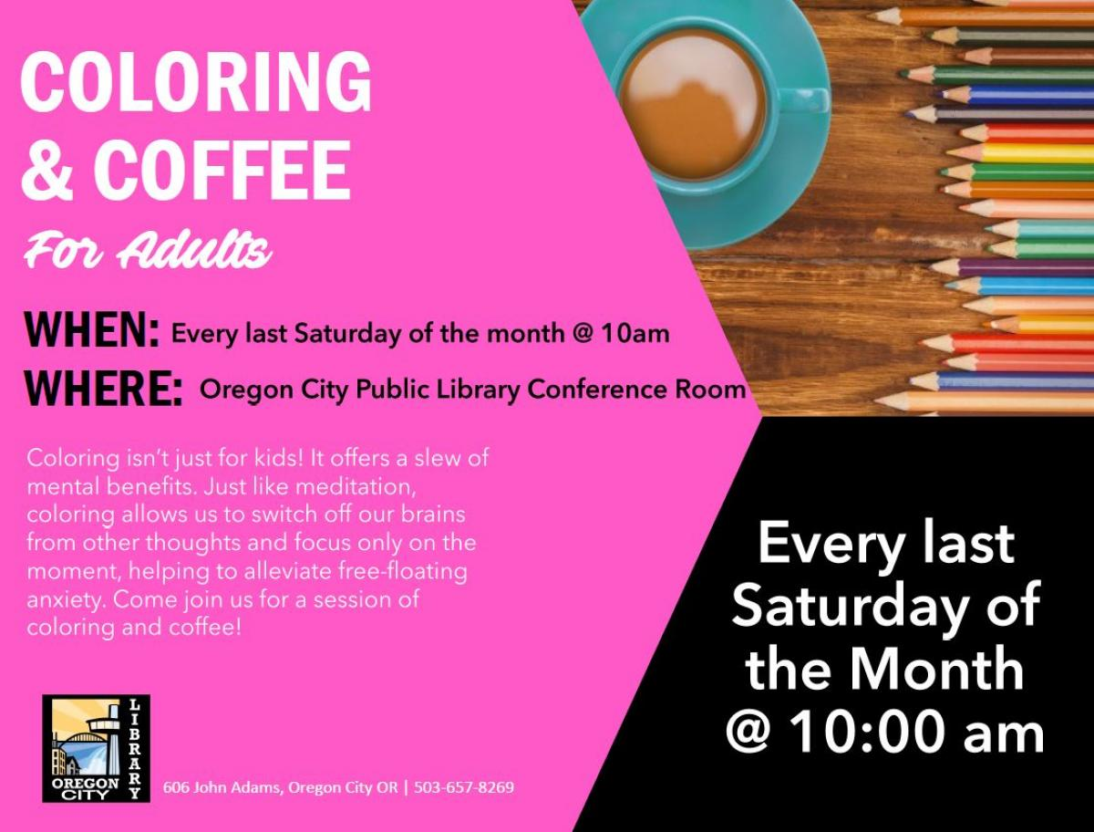 Coloring and Coffee | City of Oregon City